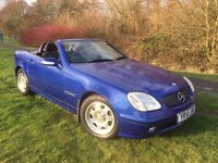 MERCEDES SLK 2.0 KOMPRESSOR 51 REG IN BLUE, ONLY 64,200 MILES WITH SERVICE HISTORY 07867955762