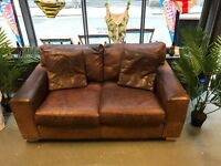 TAN LEATHER SOFA - GREAT CONDITION, NEED TO MOVE IT