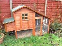 Rabbit Hutch with Side Nest Box and Run