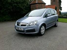 2006 Vauxhall Zafira 1.6 life 5dr mot tested till Feb 2019 Px considered