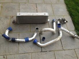 Subaru Impreza radiator intercooler and silicone hoses