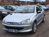 Peugeot 206 CC 1.6 2004 + FULL SERVICE HISTORY + 12 MONTHS MOT + 2 KEEPERS FROM NEW