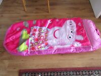 Air bed. Child's Peppa Pig
