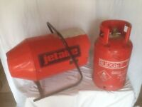 Jetaire Propane space heater, plus gas for sale