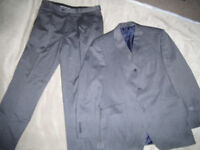 Dark Grey Mens Moss Bros 2 piece Suit