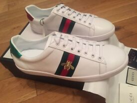 Gucci Ace Bee Unisex Men Women Trainers Shoes Christmas Black Friday Sale With Box, Dustbag & Cards