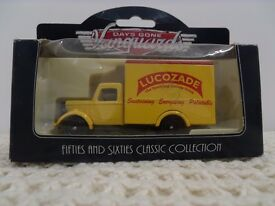 Miniture Lucozade delivery van. from the 'Days Gone Vanguard Range' . 1950 Bedford 30 cwt van.