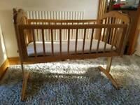 Swinging wooden cradle / crib