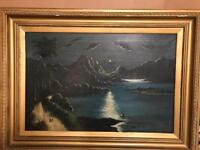 Canvas oil paining