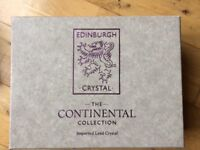 Edinburgh Crystal continental collection . Box set of 6 brandy glasses. Ideal Christmas present.