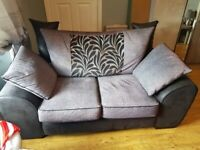 3 seater, 2 seater and foot stool