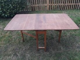 Hardwood folding dining table