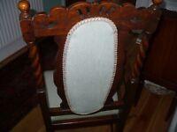 period barley twist arm chair