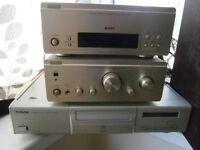 denon amp denon tuner technics cd separates