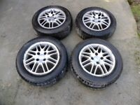 Winter Tyres x4 195/60 R15 T Continental and Pirelli on Alloy wheels £60