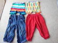 BUNDLES OF BOY CLOTHES SHORTS JEANS TROUSERS AGE 2 YEARS