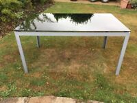 Glass top garden table 90 x 150cm