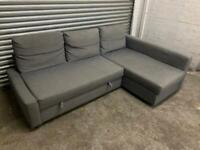 FREE DELIVERY IKEA FRIHETEN GREY CORNER SOFA BED WITH STORAGE GOOD CONDITION