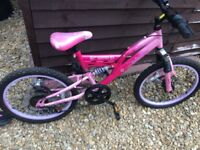 Girls bike 18 inch wheels