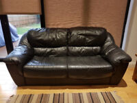 3 Seater Leather/Leather effect Sofa - Black