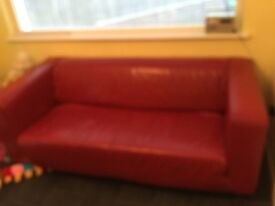 IKEA leather sofa
