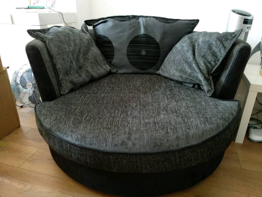 Dfs Large Snuggle Swivel Chair Sofa 130cm
