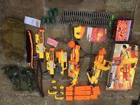 Nerf Guns (x5) & Lots of Kit – Huge Bundle Pack - plenty for group games
