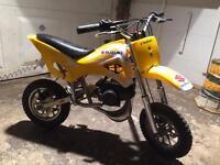 Kids Dirt Bike. No Gears Just Rev n Go