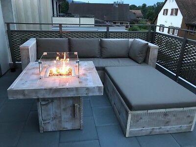 * Loungeset* Gerüstholz *Lounge* GartenMöbel Holz Bauholz*Neu*Feuertisch*