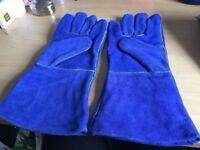 New welding gloves blue