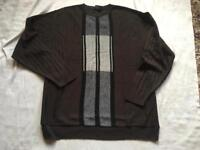 M2m men's light wool jumper round neck brown size large used 2 times ex condition £5