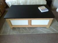 coffee table with storage and seating