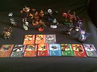Skylander Giants portal, Wii game and 12 Skylander Giants figures with cards.