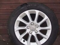 """""""16"""" Alloy wheels and tyres only 3 months old from Audi A3."""
