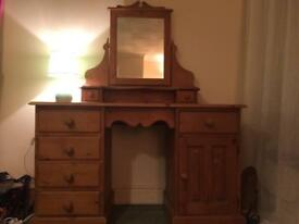 SOLID PINE DRESSING TABLE - reduced