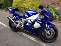 YAMAHA R1 2001 5JJ 998CC in classic blue, low miles