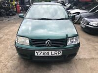 2001 Volkswagen Polo 5dr 1.0 Petrol Green BREAKING FOR SPARES