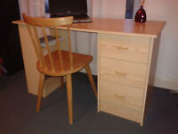 Two office desk + chair + chest drawer