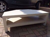 Wood Corner TV Stand Unit Cream/off white