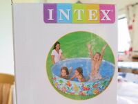 New Large Paddling Pool. Intex 'Snapset'. Rigid walls, no inflation. Circular 6' (1.83m) diameter