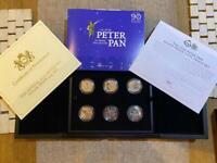 Peter Pam silverproof 50p set with COA.