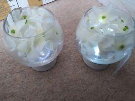 2 brand new fish bowl flower lights