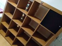 IKEA expedit storage shelf- 4x4= 16 compartments, with boxes, shelves