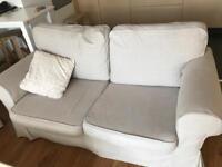 IKEA Ektorp 2-seat sofa with beige covers