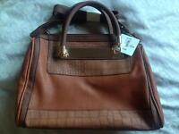 New Look Tan Handbag- Marni, Metal Plate