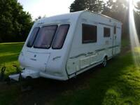 Compass ralley 524 2003 4 berth touring caravan end bathroom
