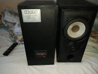 Pair of large heavy Mission stereo hifi speakers