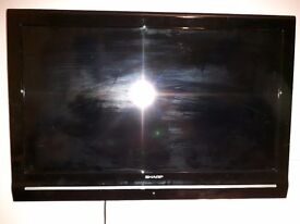 SHARP TV with wall mount and stand