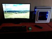 gaming pc monitor set