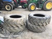 4x 15.5/80-24 tyres